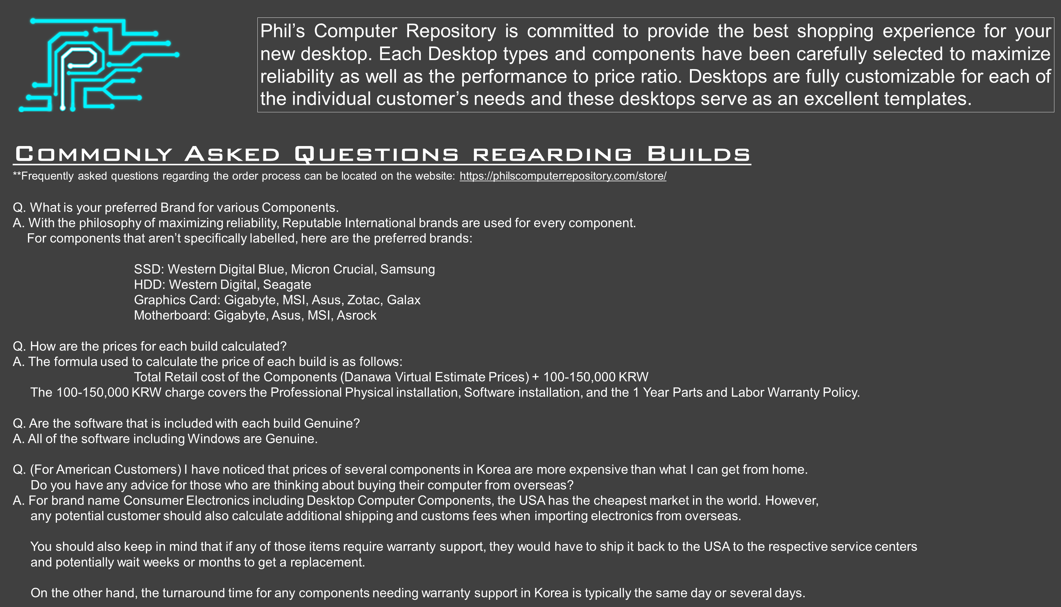 Store - Phil's Computer Repository